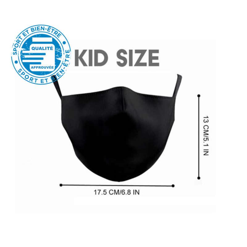 Dimensions du masque pour enfant, 13cm par 17,5cm
